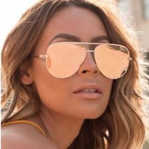 Quay Australia Accessories - Quay desi high key gold sunglasses